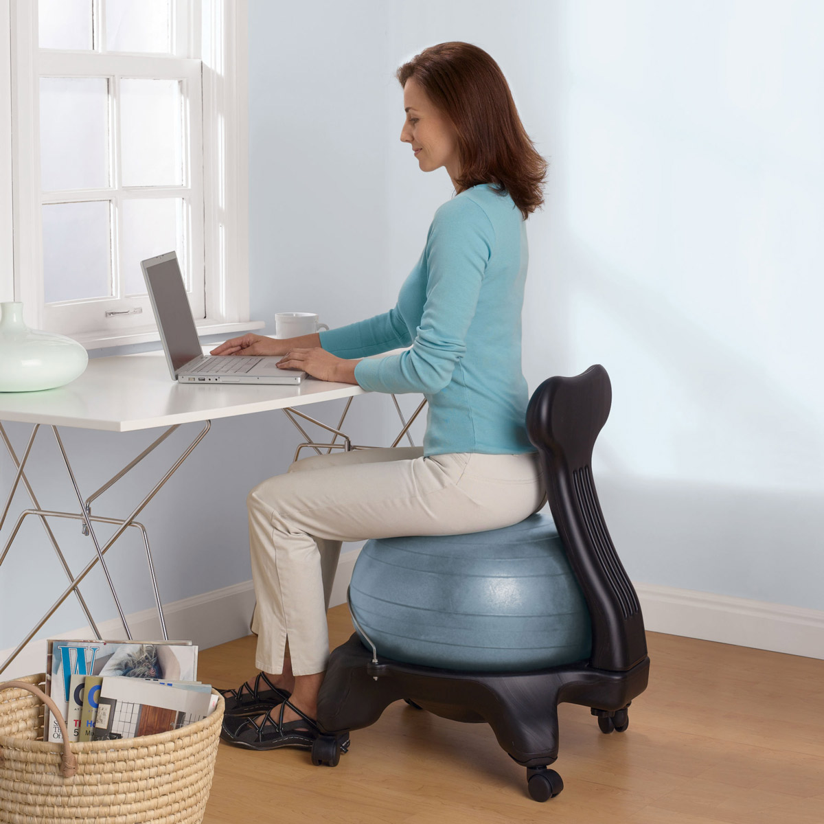10 Reasons to Use an Exercise Ball as Your Chair